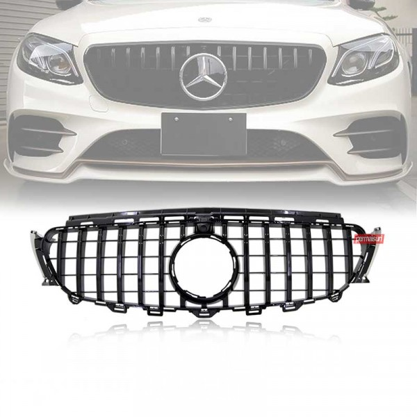 Grille for Mercedes Benz W213 Style GTR Black