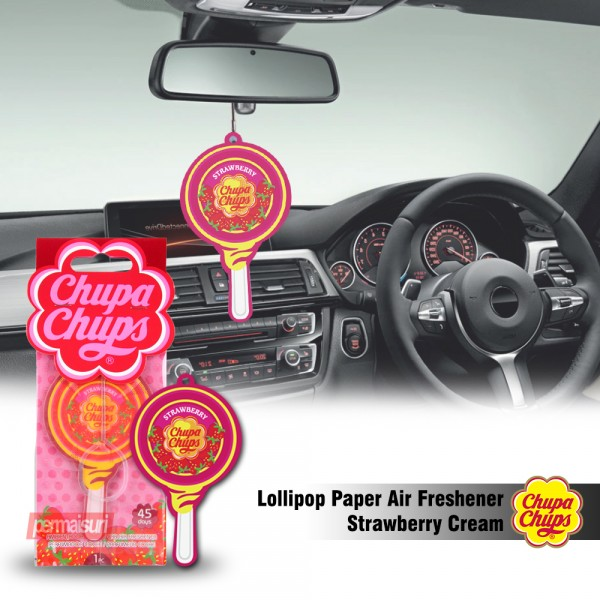 Chupa Chups Lollipop Strawberry Cream 5.4g CHP700