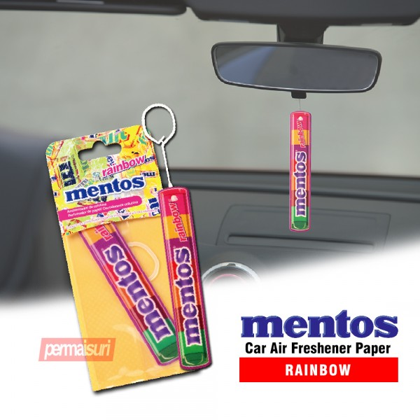Mentos Car Air Freshener Paper Rainbow MNT402
