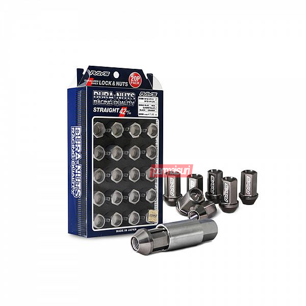 L42 Duralumin Straight Lock & Nut Set Gunmetallic