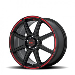 MR142 Satin Black With Red Stripe