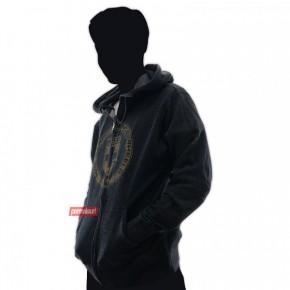 Hoodie Mens Worn Charcoal