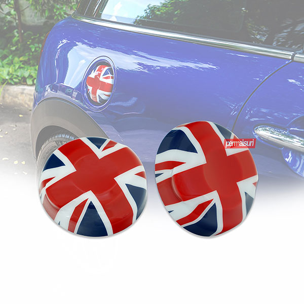 ABS Union Jack Flag Fuel Tank Cap Cover Red Blue