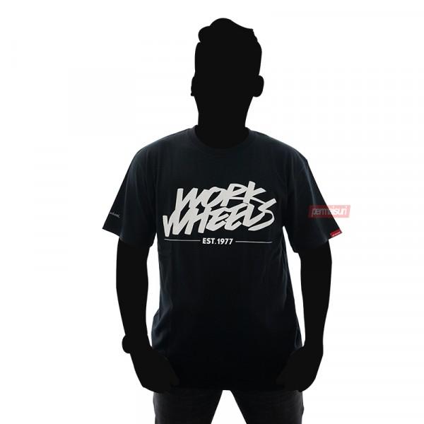 T-Shirt Work Wheels Black