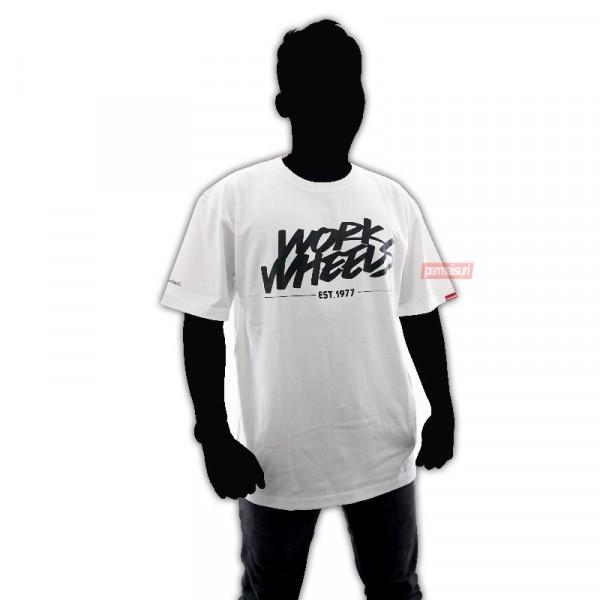 T-Shirt Work Wheels White