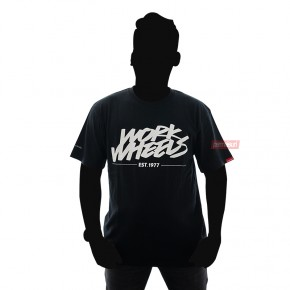 T-Shirt Work Wheels Black