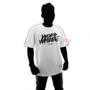 T-Shirt Work Wheels White