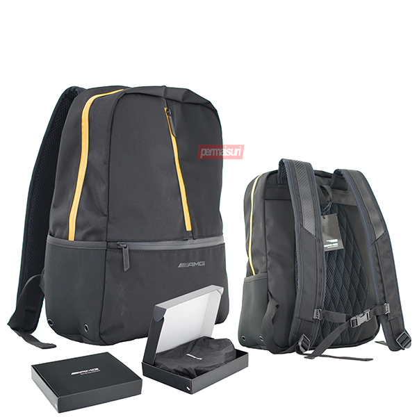Tas Ransel Rucksack Black List Yellow