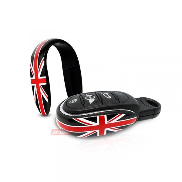 Mini Key Decor Union Jack Alloy Metal Black