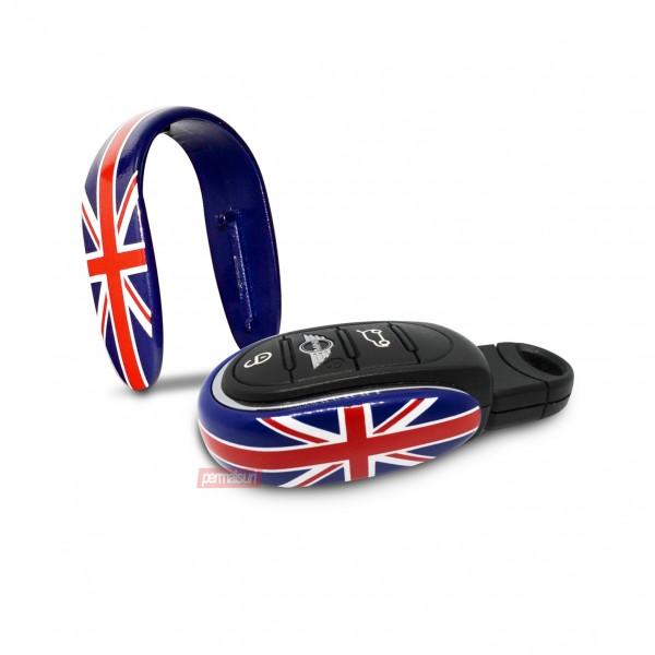 Mini Key Decor Union Jack Blue