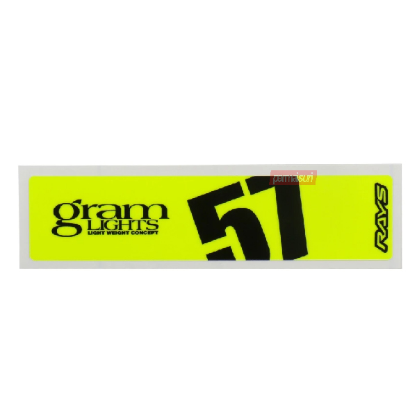 Gram Lights Spoke Sticker Luminous Yellow