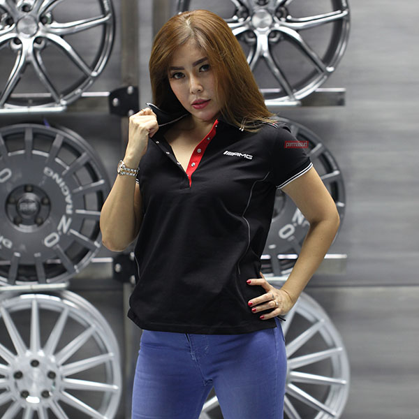 AMG Polo Shirt Women's Black Red