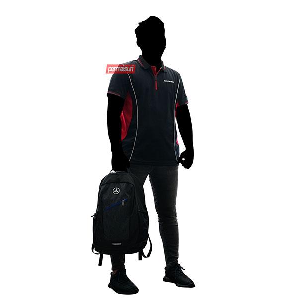 AMG Polo Shirt Man's Black Red