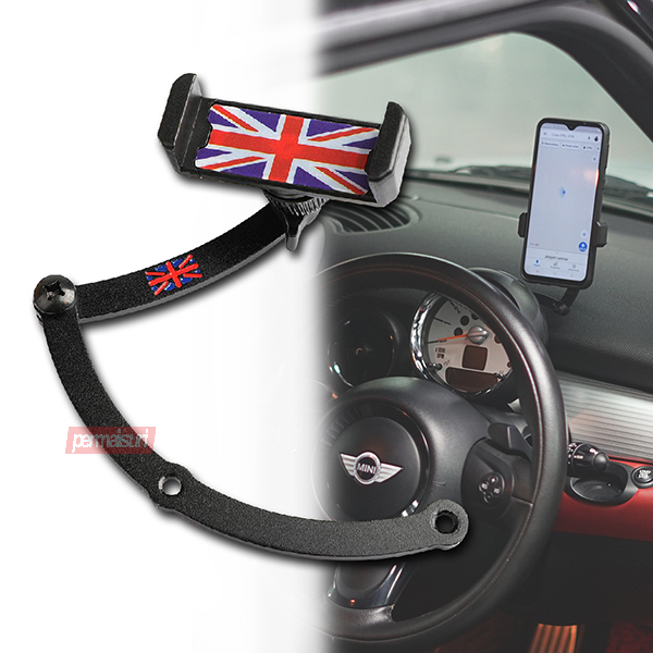 Phone Holder For Mini Cooper Red Blue Union Jack