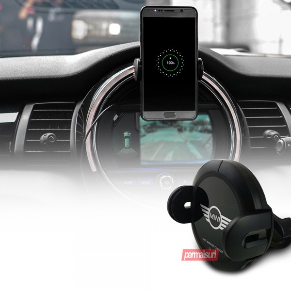 Fast Wireless Charger Black For Mini Cooper
