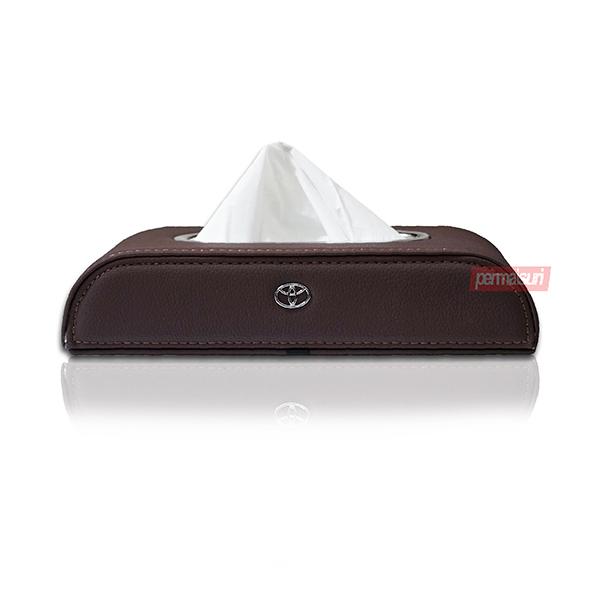 Tissue Box Toyota Dark Brown