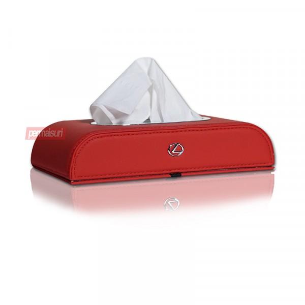 Tissue Box Lexus Maroon