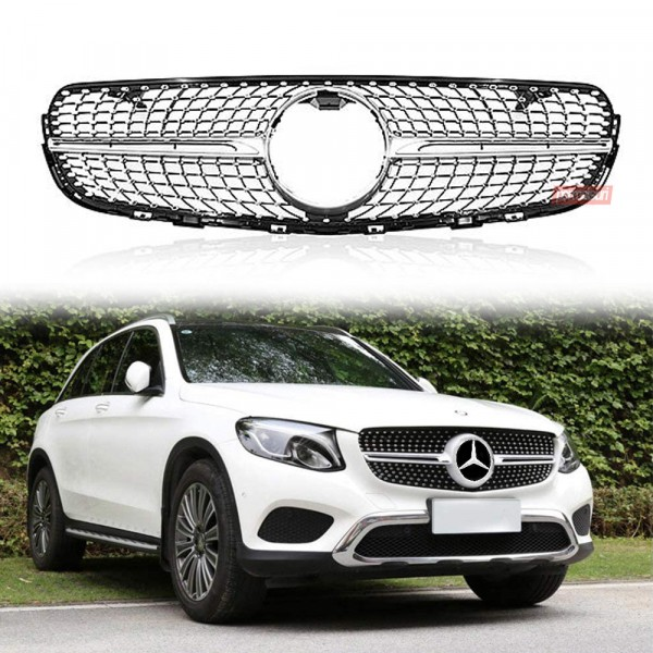 Grille Diamond For Mercedes GLC Class Style 43