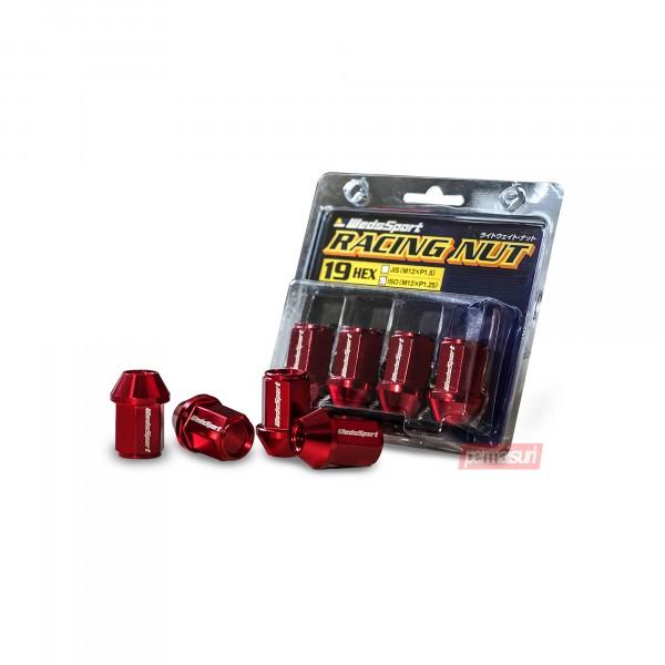 Wedssport Racing Nut M12xP1.25 Red