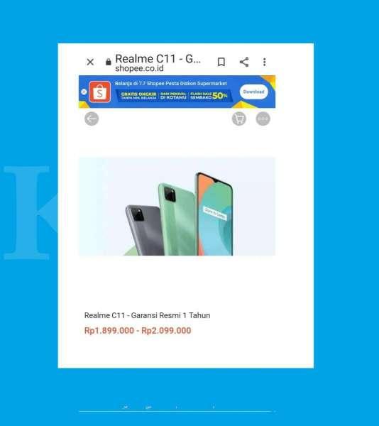 Harga HP Realme C11 mulai Rp 1,7 juta, hari ini mulai di jual resmi di Indonesia