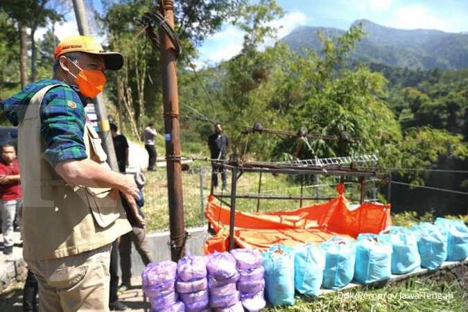 Saat Ganjar Pranowo blusukan bersafari kurban ke desa terpencil di Gunung Merapi
