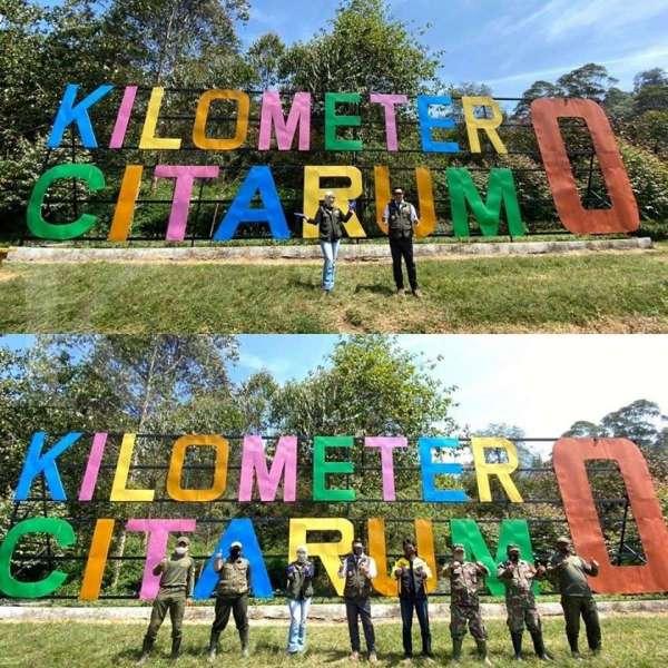 Gubernur Jawa Barat Ridwan Kamil blusukan di Situ Cisanti, titik nol Sungai Citarum di akhir pekan