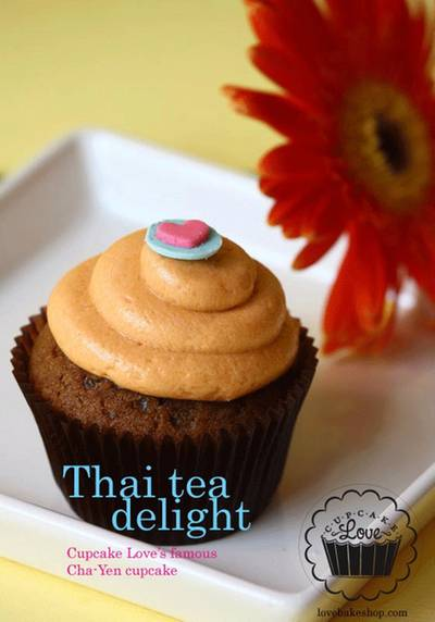 รูปจากเว็บไซต์: thai tea cupcake ที่ ร้านอาหาร Cupcake Love สยามพารากอน