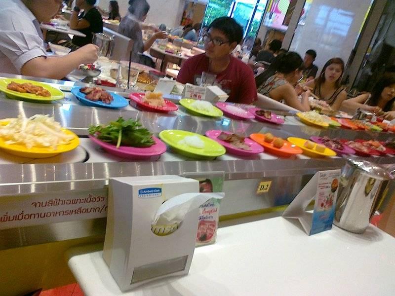 อาหารบนสายพาน ที่ ร้านอาหาร Seoul Grill by Sukishi Union Mall