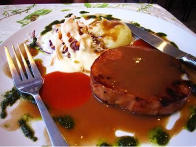 สเต็กหมูรมควัน ที่ ร้านอาหาร Pepper Steak