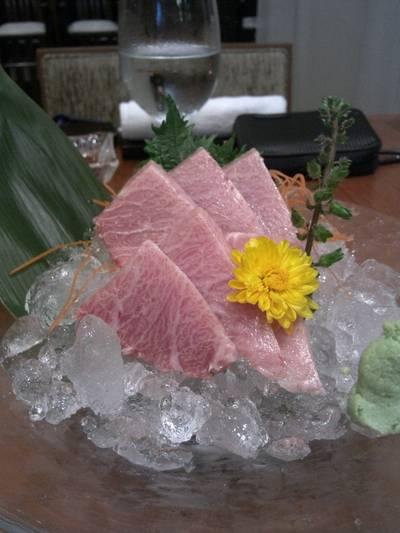 otoro sashimi ที่ ร้านอาหาร The Grill Tokyo