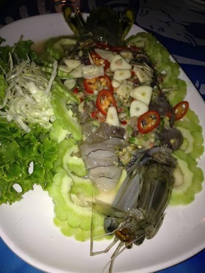 กั้งมหาสมุทร ที่ ร้านอาหาร มหาสมุทร ซีฟู้ด