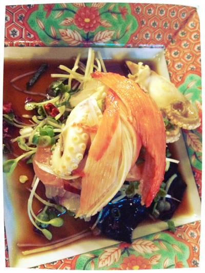เมนูพิเศษจากเชิฟค่า. ฟรีนะคะ :-) ที่ ร้านอาหาร Nihon Sushi