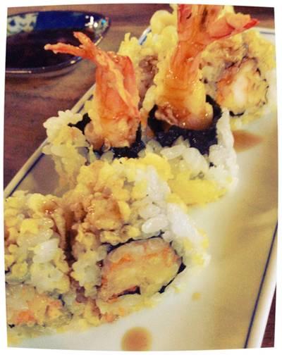 ข้าวปั้นหน้ากุ้งเทมปุระ ที่ ร้านอาหาร Nihon Sushi