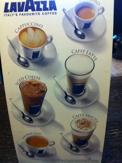 """กาแฟเค้าจะใช้ของ """"Lavazza"""" ที่ ร้านอาหาร Caffe Undici"""