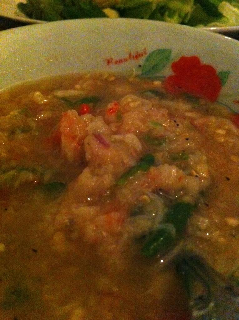 น้ำพริกกุ้งสด ที่ ร้านอาหาร หัวปลี
