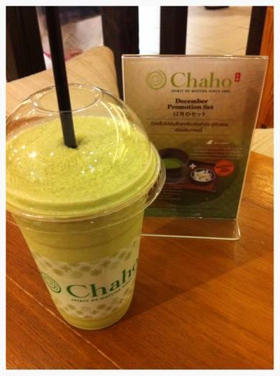 Milky Matcha Snowy::90THB ที่ ร้านอาหาร Chaho เซ็นทรัลบางนา