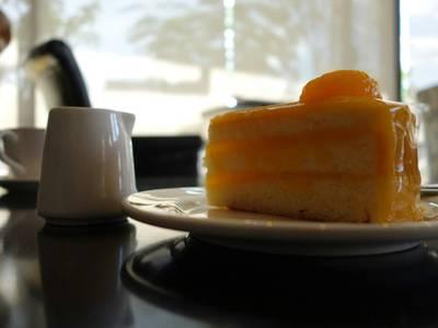 เค้กส้ม ที่ ร้านอาหาร Kokoro ราชพฤกษ์