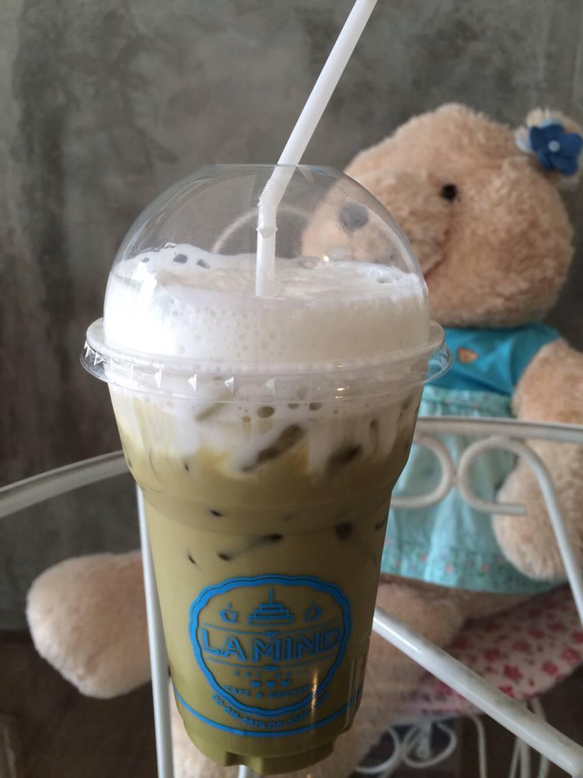 กาแฟชาเขียวลาเต้ ที่ ร้านอาหาร La Mind Café and Dessert