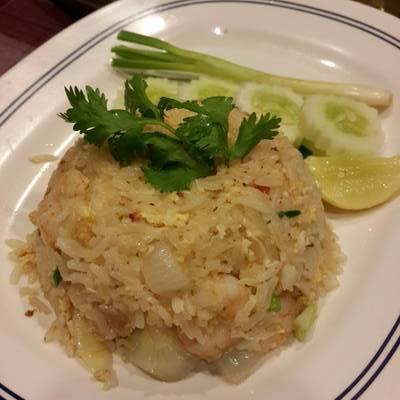 ข้าวผัดกุ้ง ที่ ร้านอาหาร สวนปู