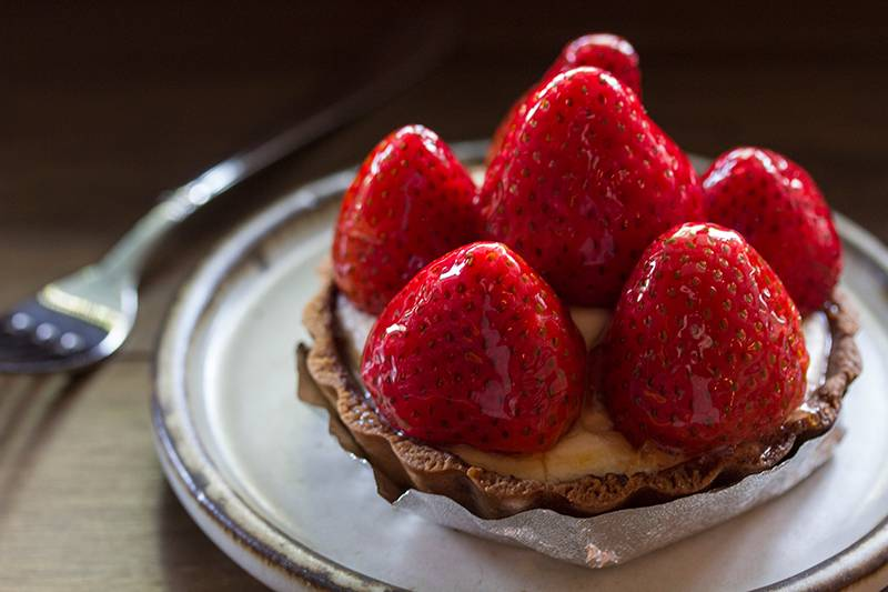 Strawberry Tart ที่ ร้านอาหาร Tiny Cup Café