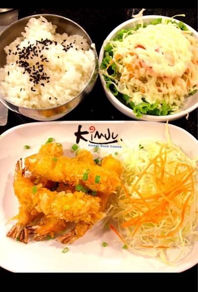 ชุดข้าวเทมปุระ ที่ ร้านอาหาร KimJu Korean Royal Cuisine เกษตร-นวมินทร์