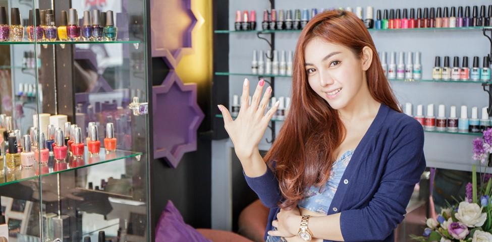 เล็บสวยใสๆ กับการเพ้นท์แบบญี่ปุ่นที่ Coquette Beauty Nail Salon