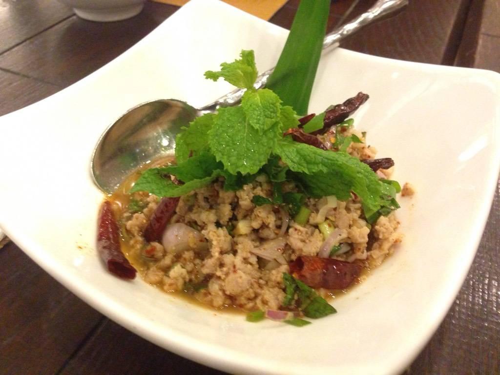 ลาบหมู ที่ ร้านอาหาร Cafe Chilli สยามพารากอน