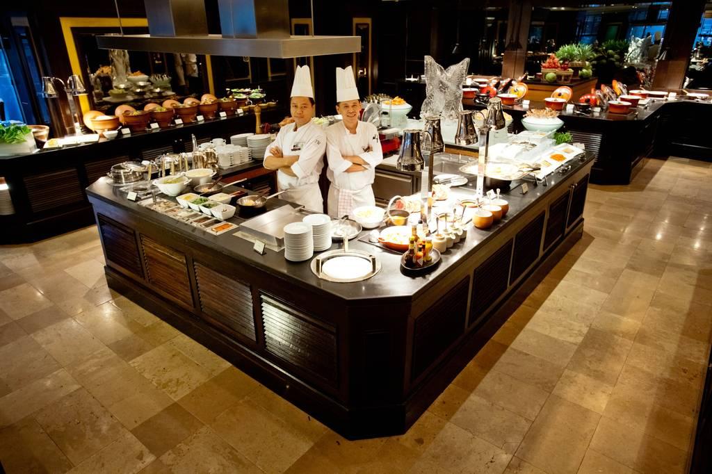 ห้องอาหารแมริออท คาเฟ่ โรงแรมเจดับบลิว แมริออท กรุงเทพ ที่ ร้านอาหาร Marriott Café JW Marriott Hotel Bangkok
