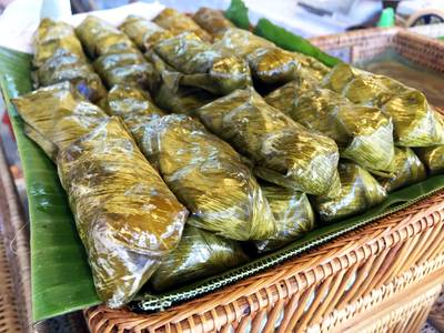 ข้าวต้มมัด !! ที่ ร้านอาหาร หวานละมุน กลางเวียง-เมืองเก่า(คูเมืองชั้นใน)