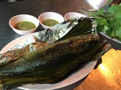 ปลาซาบะเผา ที่ ร้านอาหาร ป้าตู่ซีฟู๊ด