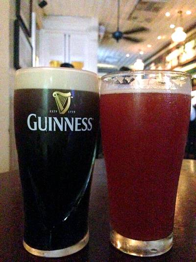Guinness VS Rose'  สายร็อค VS สายหวาน ที่ ร้านอาหาร Mulligans Irish Bar