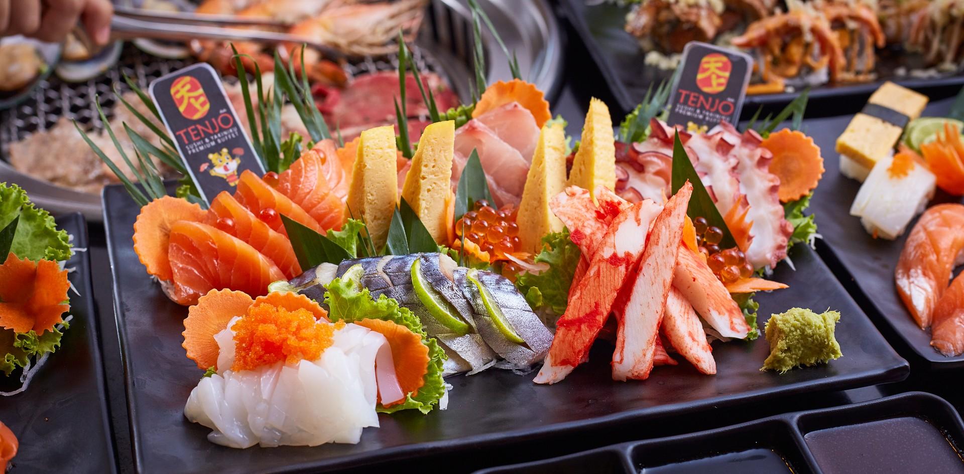 """สนองความสุขให้กับกระเพาะ ที่ """"Tenjo Sushi & Yakiniku Premium Buffet"""""""