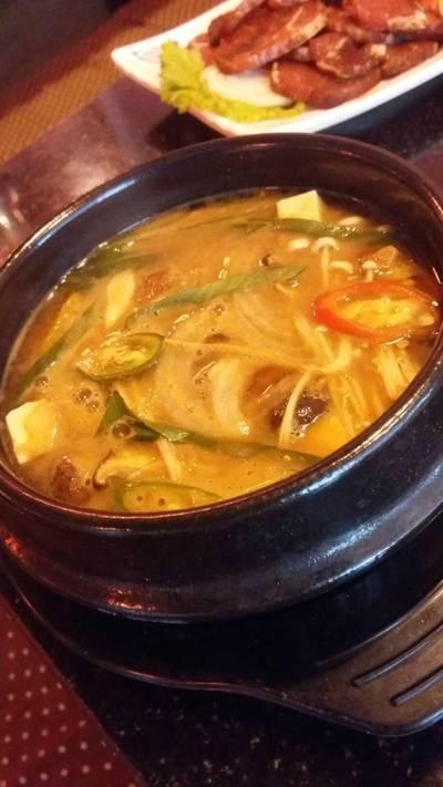 ซุปกิมจิ ที่ ร้านอาหาร ล้ำลำ  หนองจ๊อม