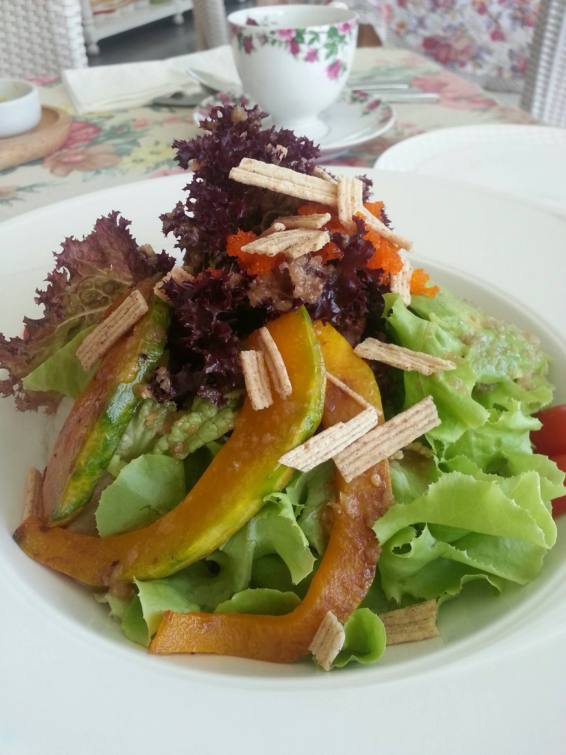Japanese Salad • ฟักทองอร่อย ที่ ร้านอาหาร Home Fresh Hydrofarm
